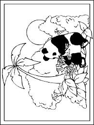 Kleurplaat Panda Kleurplatennl