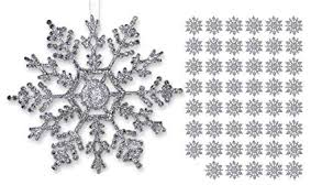 Buy Silver Snowflakes Shatterproof Christmas Ornaments With Silver