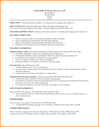 Teaching Resume Objectives For Teaching Resume Photo Tomyumtumweb 69