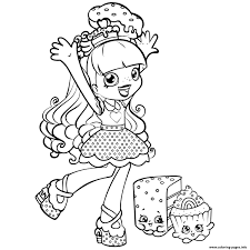 Shopkins Girls Coloring Pages Download Coloring For Kids 2019