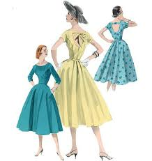 1950s Dress Patterns Amazing 48s Repro Vintage Sewing Pattern Open Back Dress Butterick 48