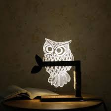 3d nightlight led table lamp dimmable usb owl table light home decor with us plug table lamp table light lamp table lamp with 48 04 piece on