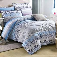 blue gray bedding blue gray comforter set striped and fl clearance cotton twill grey light blue blue gray bedding