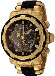 invicta men s 18k gold plated and black watch mens nice watches invicta men s 18k gold plated and black watch mens nice watches cheap watches