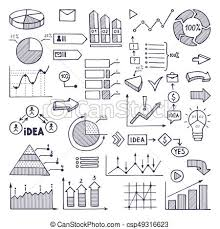 Hand Drawn Pie Chart Pie Graph Graphics And Charts Business Illustrations In Hand Drawn Style