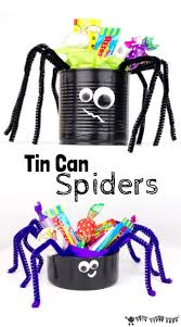 This Tin Can Spider craft is a great way to reuse tin cans. It's a