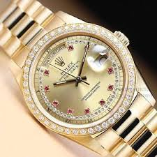 17 best images about men s rolex watches w diamonds men s day date presidential watch original rolex ruby string diamond dial 18k yellow gold 1