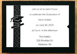 Example Examples Of Graduation Announcements Grad Party Invitations