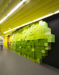 office wall art ideas. Unique And Unusual Interior Green Wall Art Idea Office Ideas