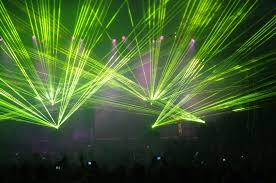 Domain Light Show Laser Light Show Of Green During A Concert Image Free