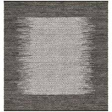 vintage leather light gray gray 6 ft x 6 ft square area rug