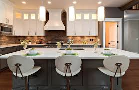 kitchen island lighting ideas pictures. interesting lighting best kitchen decorating ideas using red brick backsplash island  lighting  intended pictures