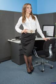 Sexy Secretary Is Wearing Only Black Stockings movie Callie.