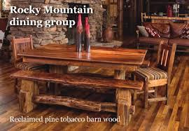 Rustic Log Furniture Dining Room Bedroom Log Cabin Furniture