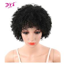 Natural Hair Style Wigs deyngs pixie cut short afro kinky curly synthetic wigs with bnags 2334 by stevesalt.us