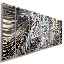 silver metal wall art canada