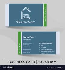 Business Card Template Real Estate Agency Design