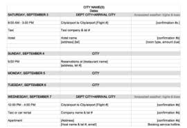 travel planner template 4 travel itinerary templates excel xlts
