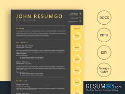 Haides Dark Gray And Yellow Resume Template Resumgocom