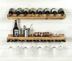 wine glass shelf 2 piece 8 bottle wall mounted wine rack set wine glass hanging rack