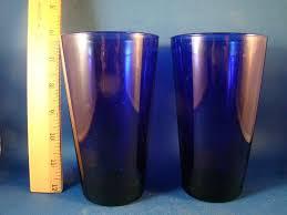 libbey cobalt blue glasses details about cobalt blue set of 2 water iced tea glasses tumblers