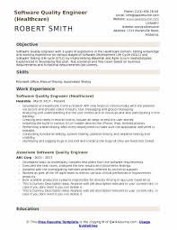 Resume Format For Quality Engineer Software Quality Engineer Resume Samples Qwikresume
