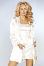 <b>Роскошный</b> ночной комплект Jacqueline: пеньюар, <b>сорочка</b> и ...