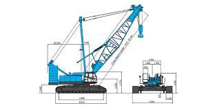 50 Ton Crawler Crane Load Chart Cke2500 Kobelco Construction Machinery Co Ltd