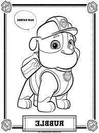 Paw Patrol Coloring Game 9ncm Paw Patrol Coloring Pages Rubble