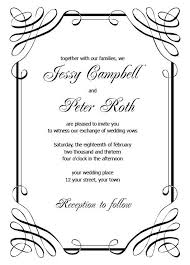 Free Printable Wedding Invitation Templates for Word Luxury formal ...