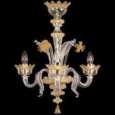 murano glass chandelier 3 lights venetian crystal honey amber details