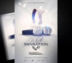 Editable Flyer Template White Sensation Flyer Template