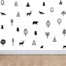 Kinds of Trees <b>Tribal Woodland Animals</b> Wall Decor Sticker Art ...