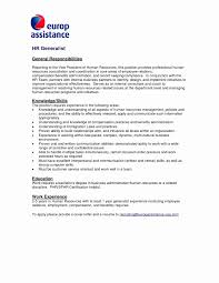 Resume Bullet Points Awesome Cover Letter Human Resources Elegant