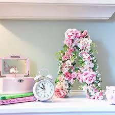diy floral monogram hometalk
