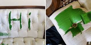 painting fabric furnitureAdventures in Painting Upholstery  A Beautiful Mess