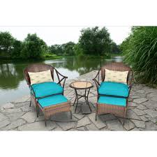 DEAL 3 PS Outdoor Rattan Patio Furniture Set Backyard Garden