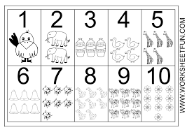 Kindergarten Best Photos Of Preschool Numbers 1 10 Kindergarten ...