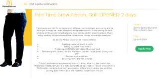 Mcdonald S Job Application Career Guide 2018 Job Application Review