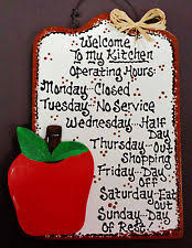 apple kitchen decor. white sign apple kitchen operating hours plaque wall hanging fruit style decor apple p