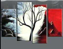 red and black canvas wall art white n