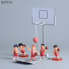 koteta anime slam dunk model action figures with miniature basketball game toy desktop toys for s