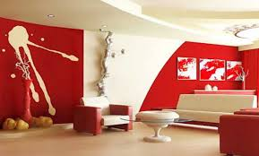 room paint red: red interior colors adding passion and energy to modern interior