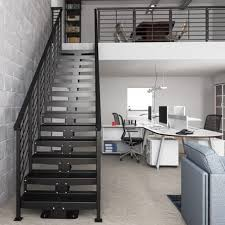 Office Stairs Straight Stairs And Modular Staircase Kits Paragon Stairs