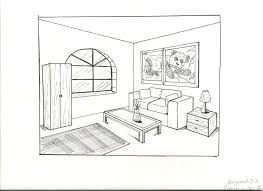 Drawing A Bedroom Large Size Of Living Room 2 Point Perspective How