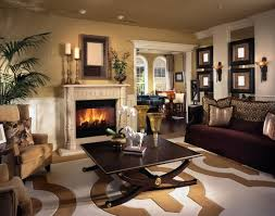 beautiful living room of elegance and sophistication with a roaring fireplace