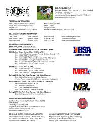amazing soccer resume for college images simple resume office