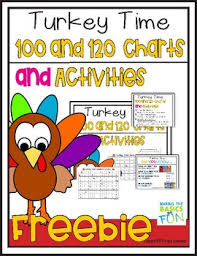 Turkey Charts Turkey Time 100 And 120 Charts And Activities Tpt