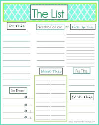 Things To Do Checklist Template Things To Do List Template Excel Job