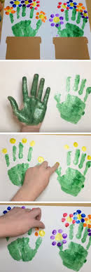 tutorial handprint flowers handprint flowers diy mothers day crafts for grandma diy gifts for mom for